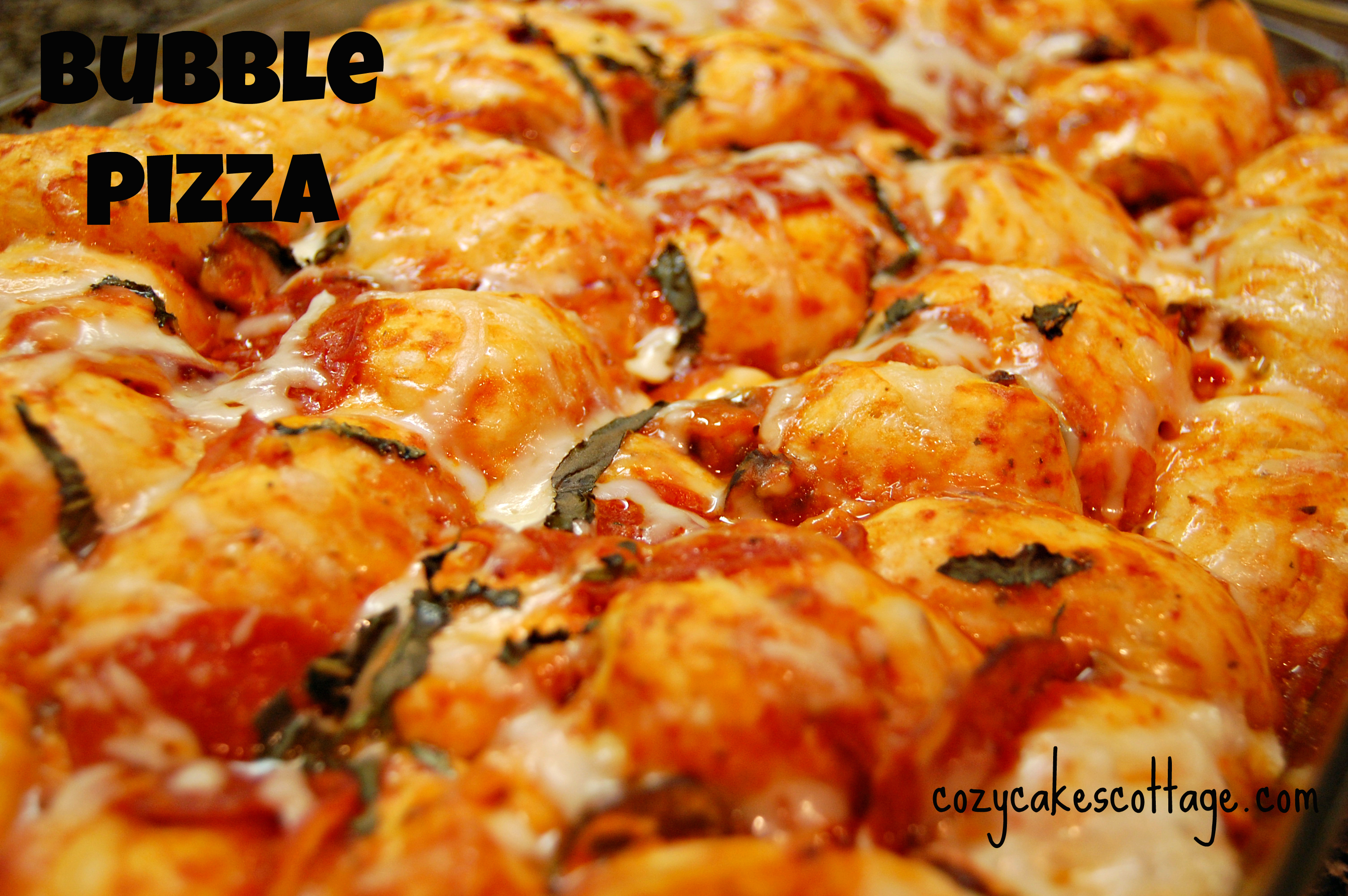 Bubble Pizza | Cozycakes Cottage