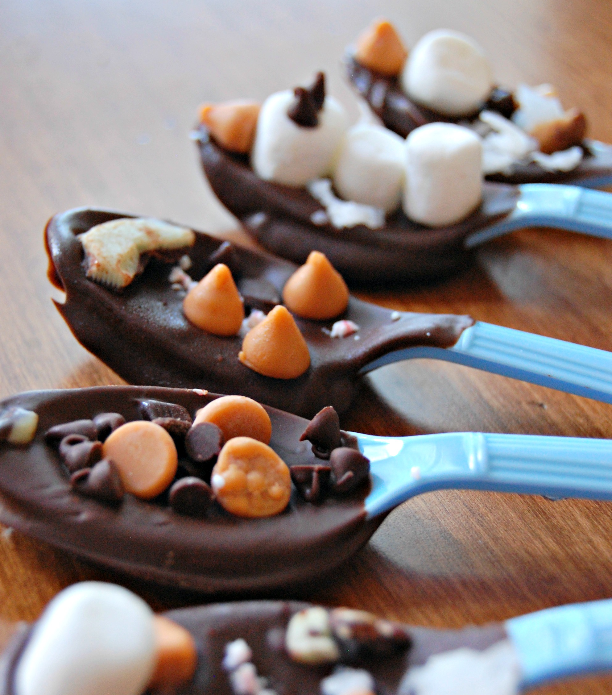 hot cocoa stirrers line up