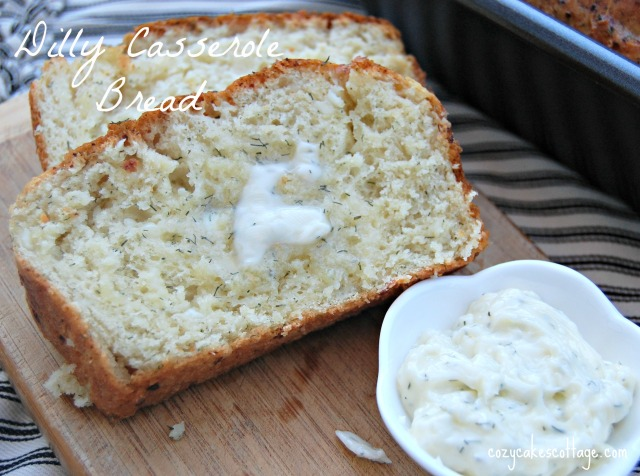 Dilly Casserole Bread: Cozycakes Cottage