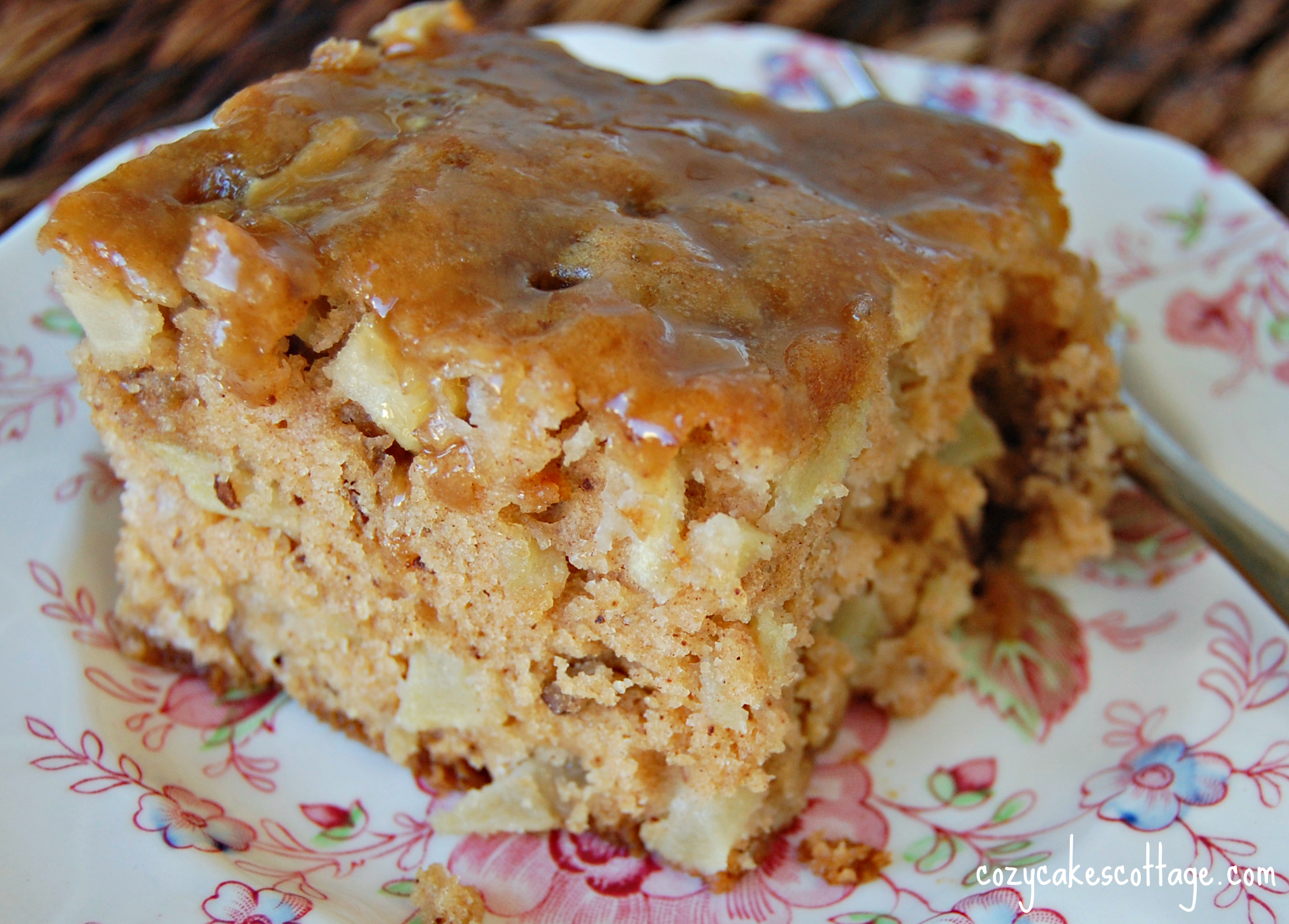 apple cake with brown sugar glaze – Cozycakes Cottage