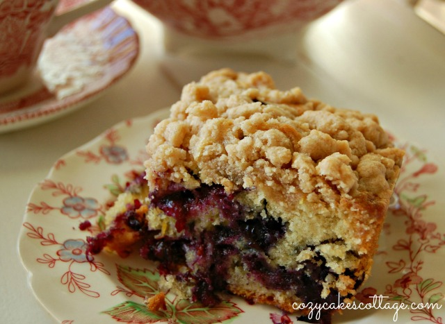 Blueberry Burst Crumb Cake: Cozycakes Cottage