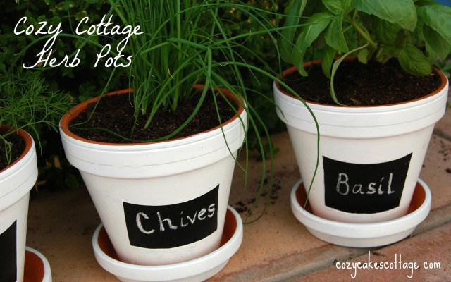 chives and basil labeled