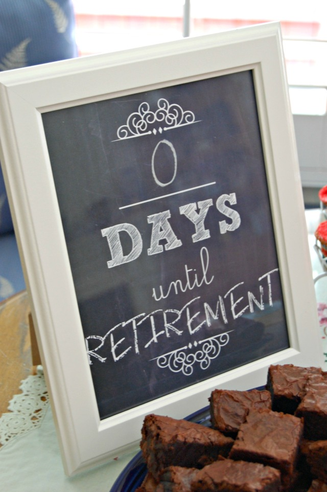 zero days retirement sign