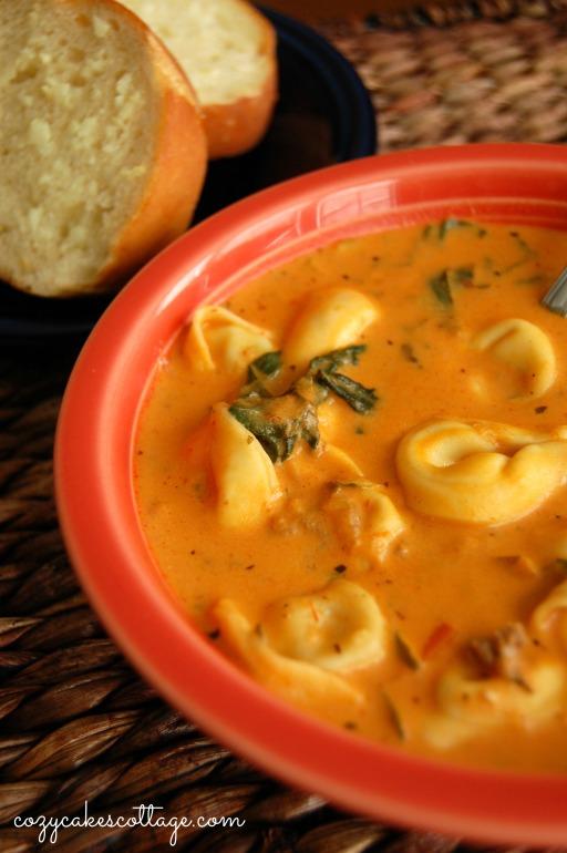 Take It Easy Creamy Tortellini Soup: Cozycakes Cottage