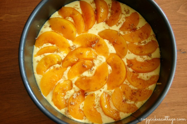 Peaches n' Cream Cobbler Pie (peach layer) Cozycakes Cottage